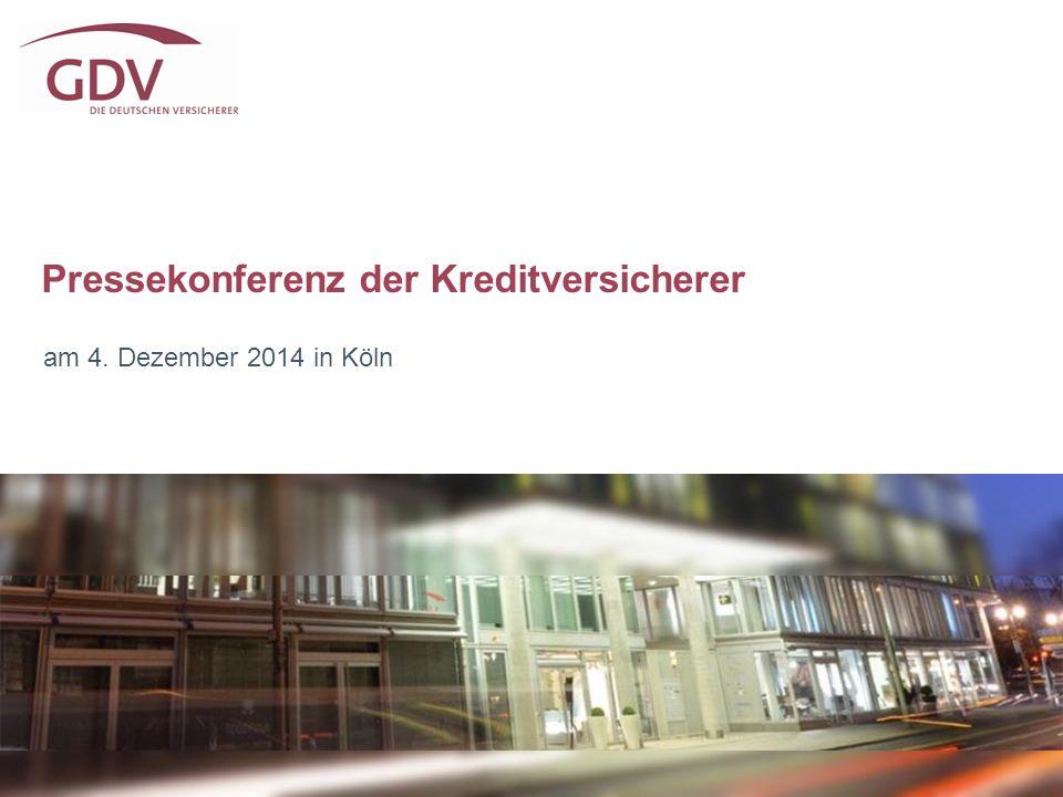 Pressekonferenz der Kreditversicherer am 4. Dezember 2014 in Köln