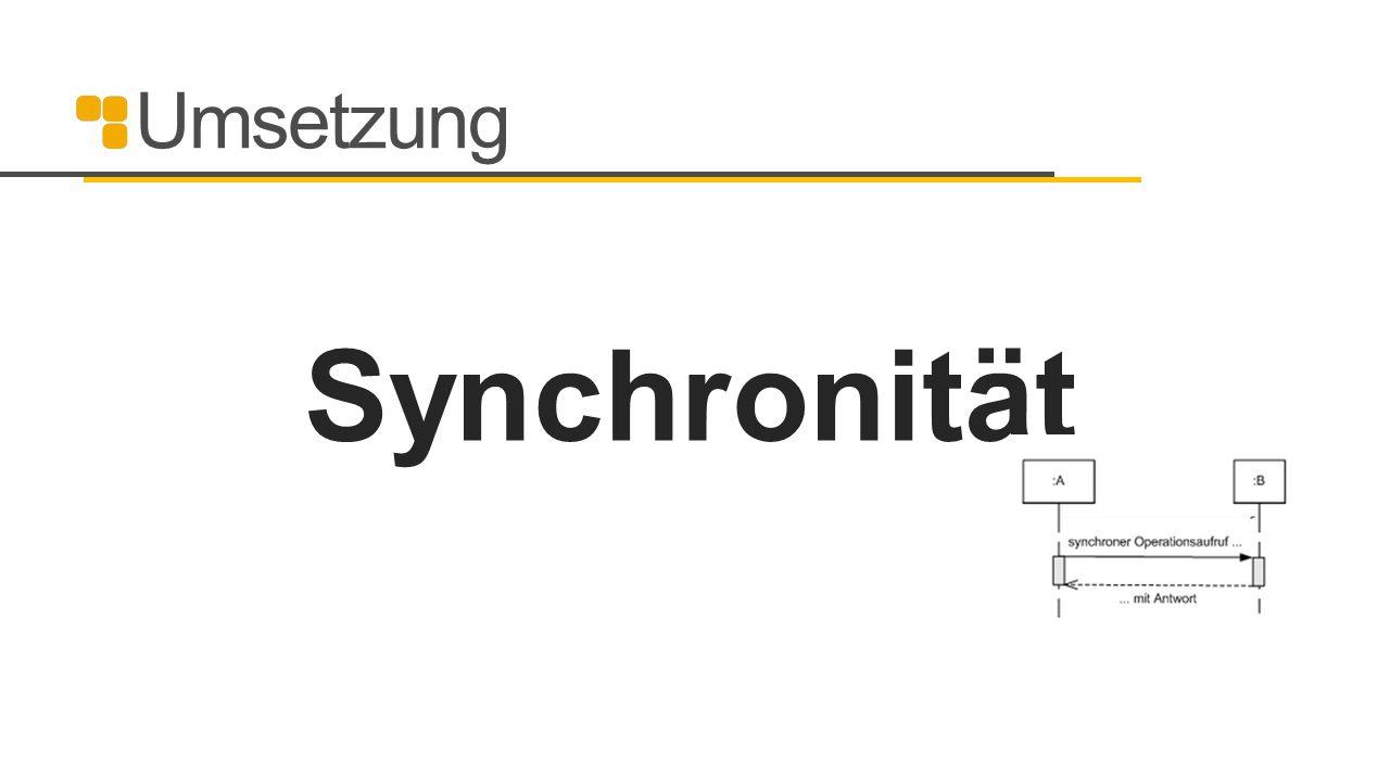 Umsetzung Synchronität