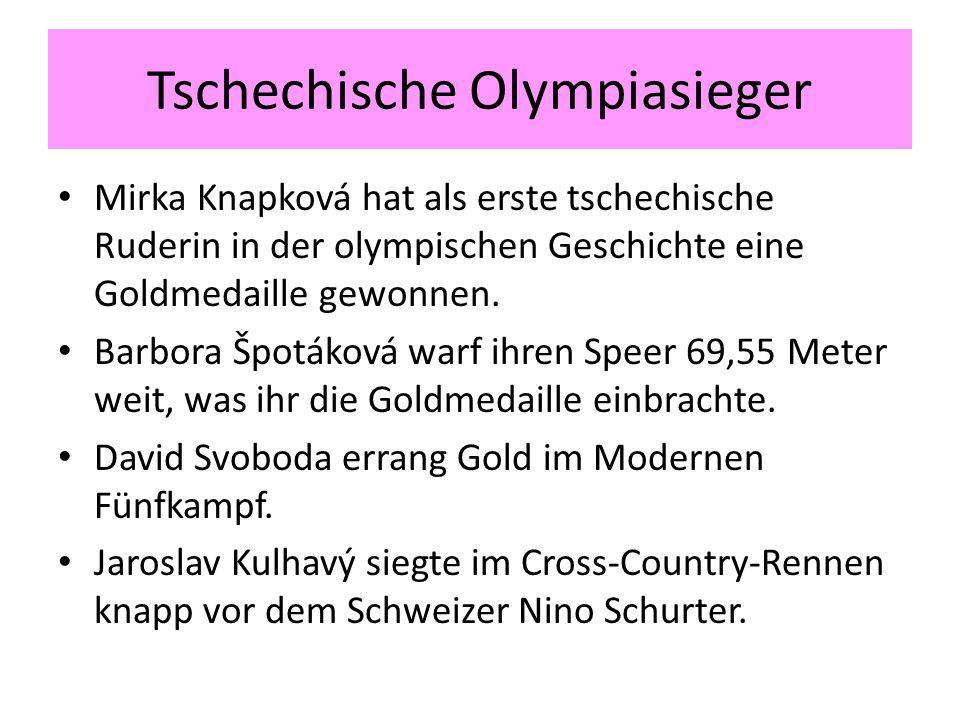 Tschechische Olympiasieger Mirka Knapková hat als erste tschechische Ruderin in der olympischen Geschichte eine Goldmedaille gewonnen.