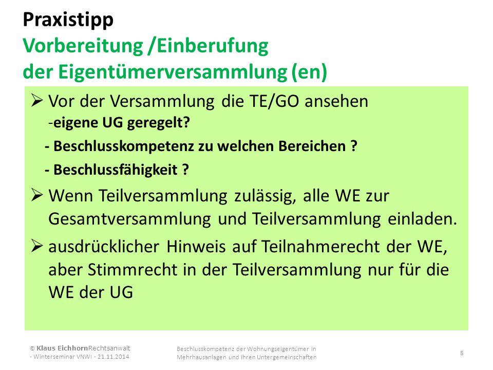 Beschlussvorschlag (Modernisierungskosten) II Kostenverteilung gemäß § 16 Abs.4 WEG 3.