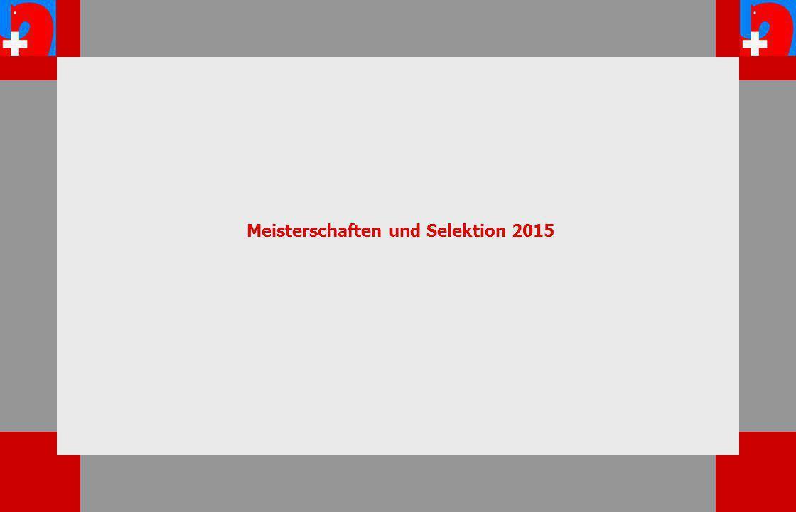 Meisterschaften und Selektion 2015