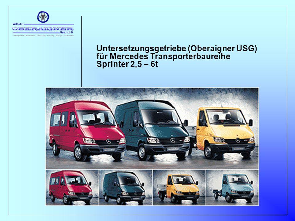 Untersetzungsgetriebe (Oberaigner USG) für Mercedes Transporterbaureihe Sprinter 2,5 – 6t