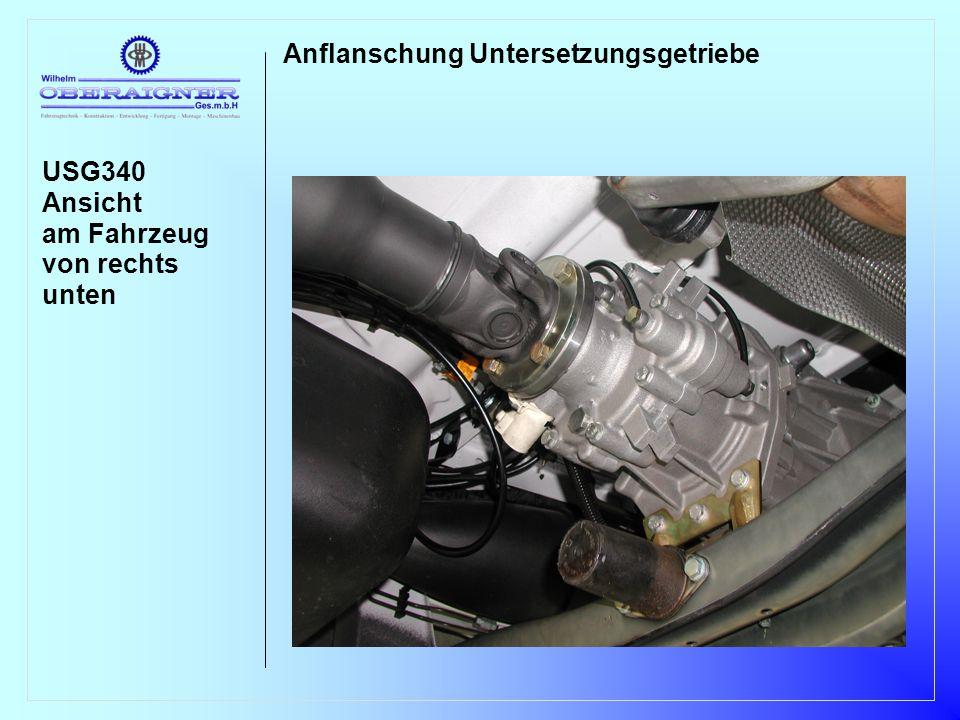 USG340 Ansicht am Fahrzeug von rechts unten Anflanschung Untersetzungsgetriebe