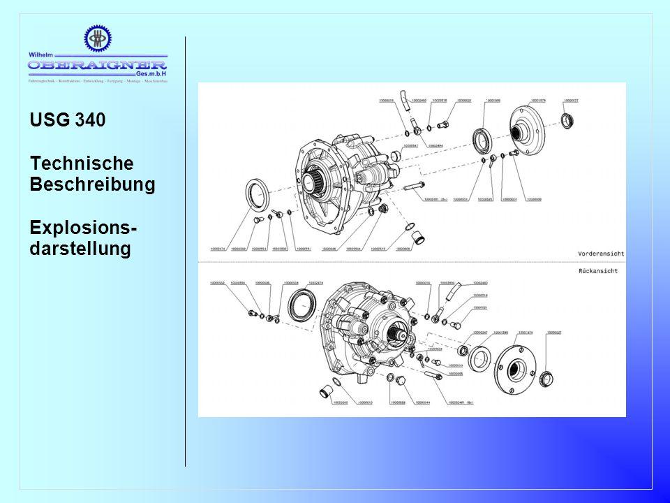 USG 340 Technische Beschreibung Explosions- darstellung