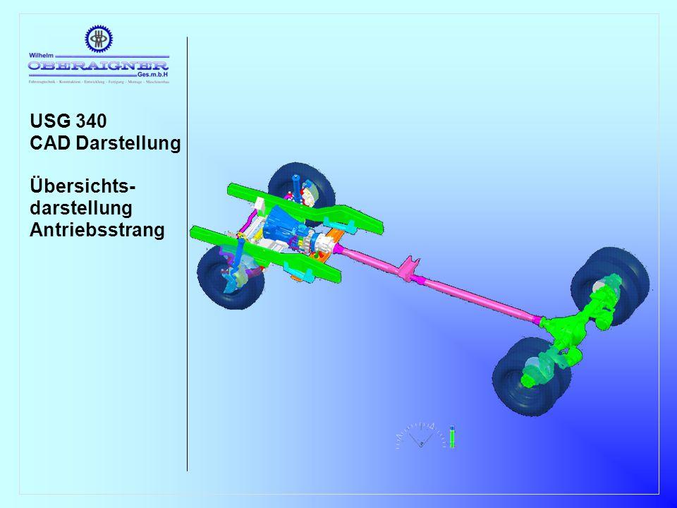 USG 340 CAD Darstellung Übersichts- darstellung Antriebsstrang