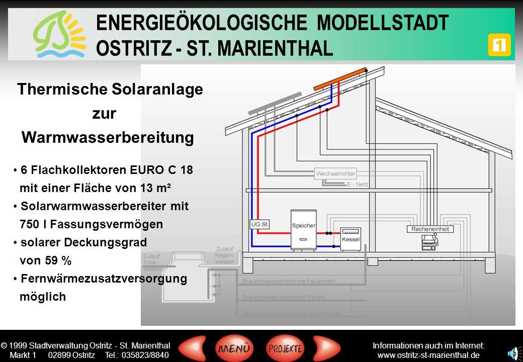 © 1999 Stadtverwaltung Ostritz - St. Marienthal Markt 1 02899 Ostritz Tel.: 035823/8840 ENERGIEÖKOLOGISCHE MODELLSTADT OSTRITZ - ST. MARIENTHAL Inform