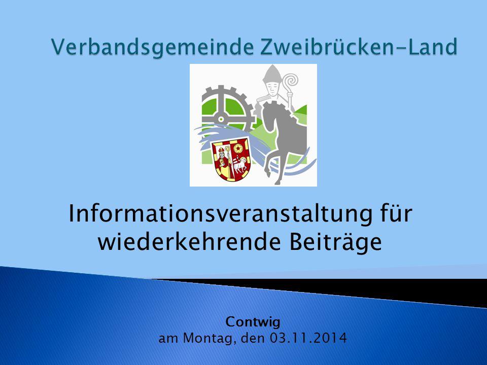 Informationsveranstaltung für wiederkehrende Beiträge Contwig am Montag, den 03.11.2014