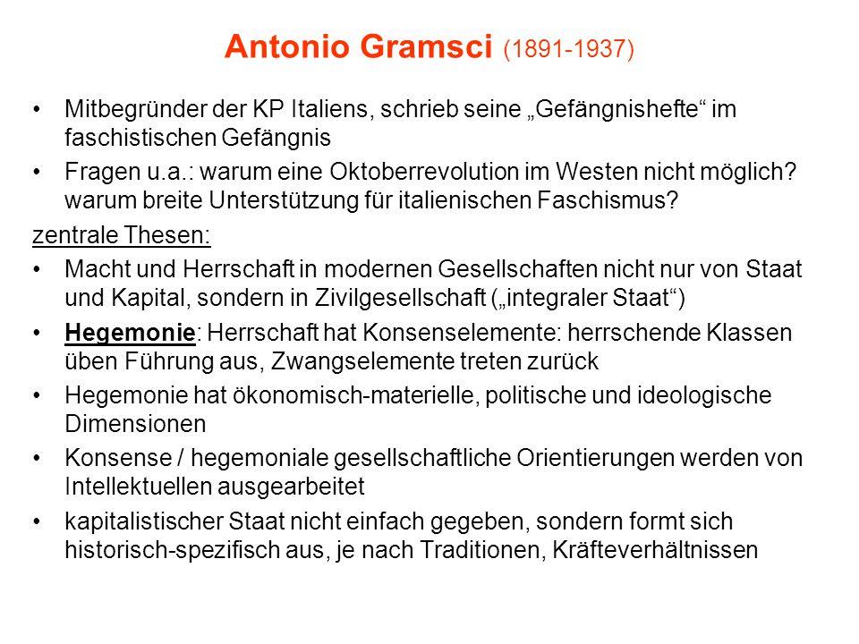 """Antonio Gramsci (1891-1937) Mitbegründer der KP Italiens, schrieb seine """"Gefängnishefte im faschistischen Gefängnis Fragen u.a.: warum eine Oktoberrevolution im Westen nicht möglich."""