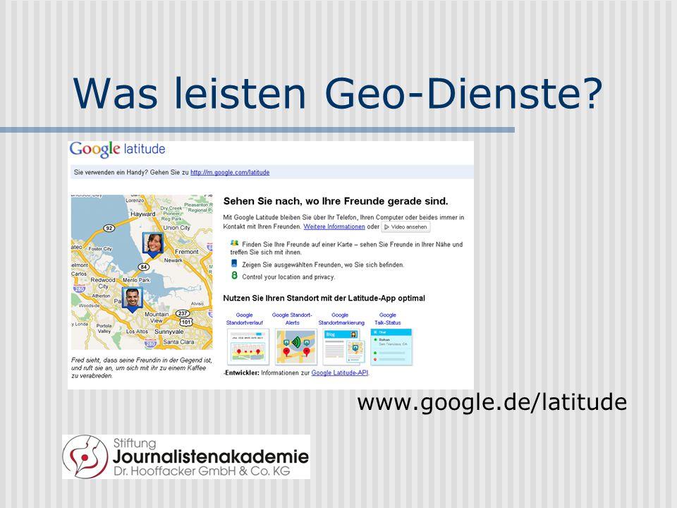Geo-Tagging zum Auffinden maps.google.de
