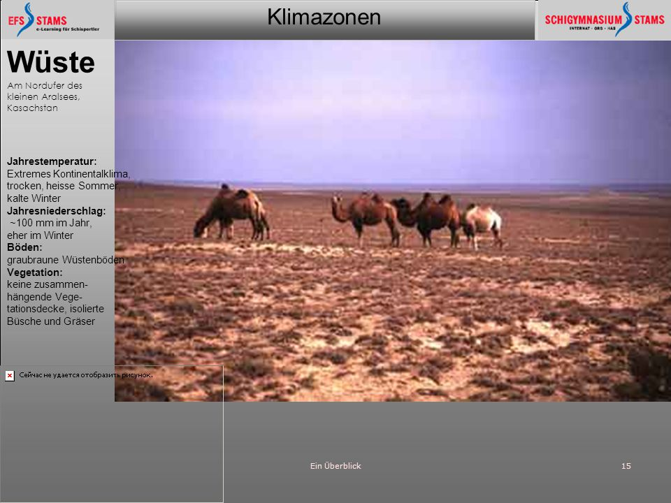 Klimazonen Ein Überblick15 Wüste Am Nordufer des kleinen Aralsees, Kasachstan Jahrestemperatur: Extremes Kontinentalklima, trocken, heisse Sommer, kal