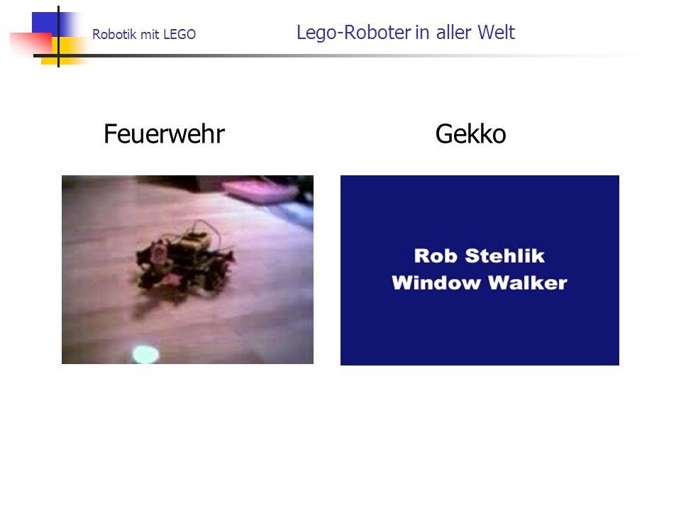 Robotik mit LEGO Lego-Roboter in aller Welt Feuerwehr Gekko