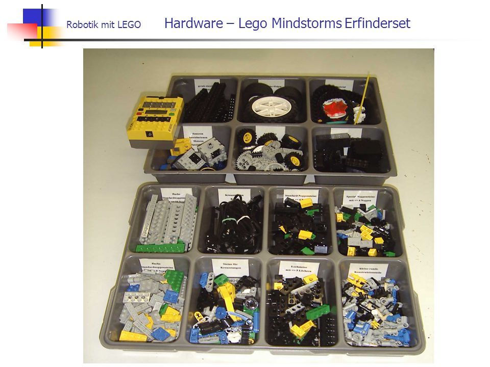 Robotik mit LEGO Hardware – Lego Mindstorms Erfinderset