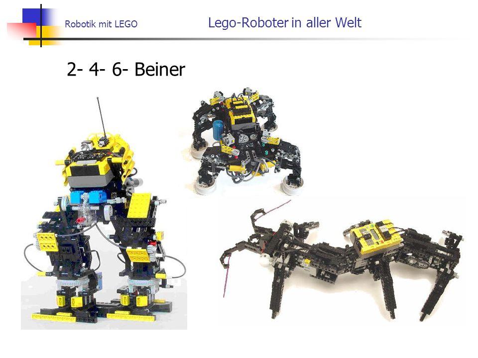 Robotik mit LEGO Lego-Roboter in aller Welt 2- 4- 6- Beiner
