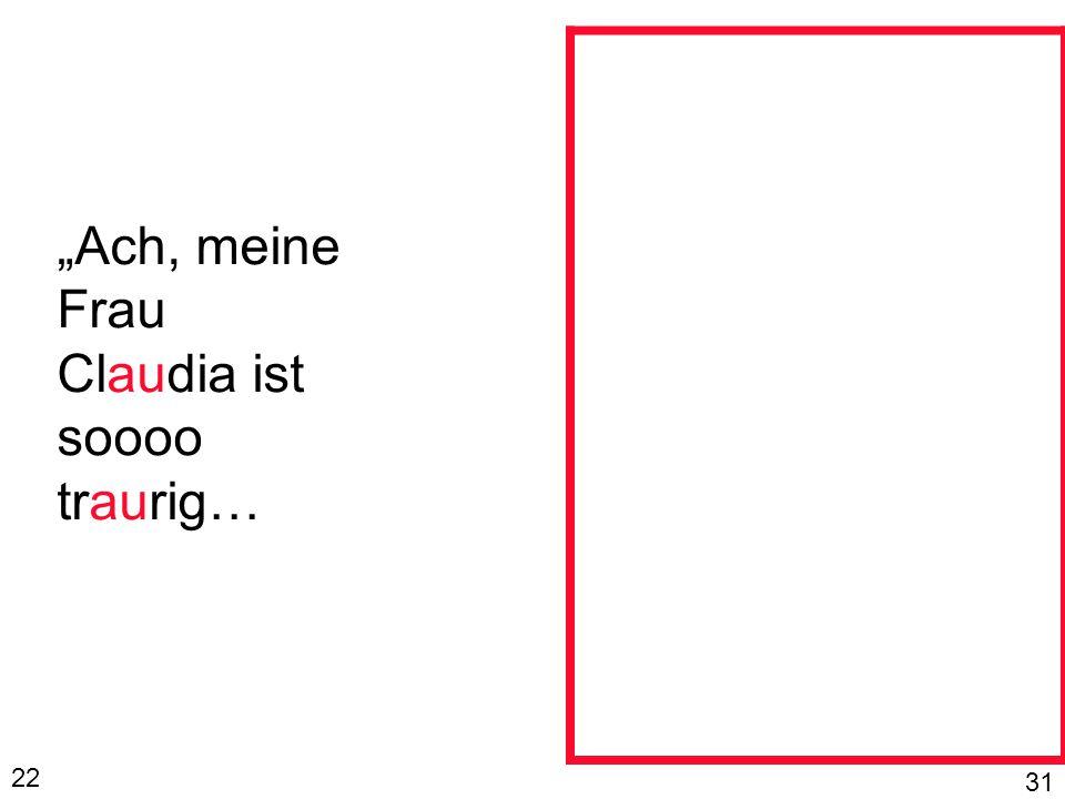 """""""Ach, meine Frau Claudia ist soooo traurig… 22 31"""