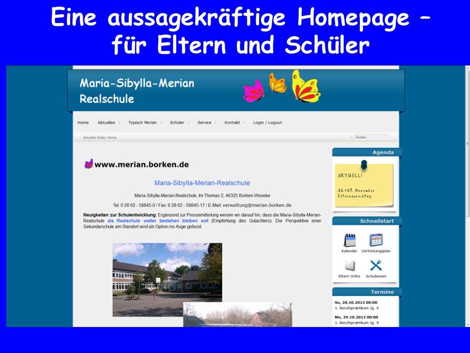 Eine aussagekräftige Homepage – für Eltern und Schüler