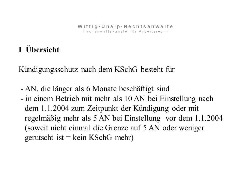 VII Personenbedingte Kündigung Fall: Wegfall der Sozialversicherung, BAG 18.1.07, 2 AZR 731/05 Lösung BAG: Soz.verspflicht eine Folge der Studenteneigenschaft, kein eigener kündigungsrelevanter Zweck.