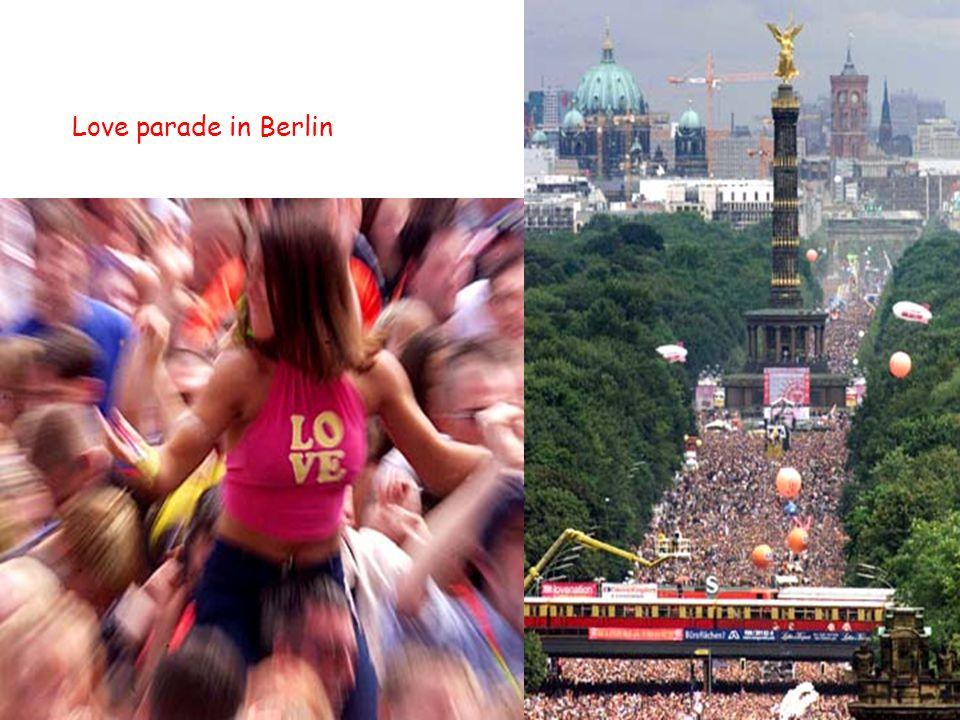 Love parade in Berlin