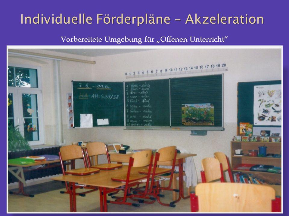 """Vorbereitete Umgebung für """"Offenen Unterricht"""""""