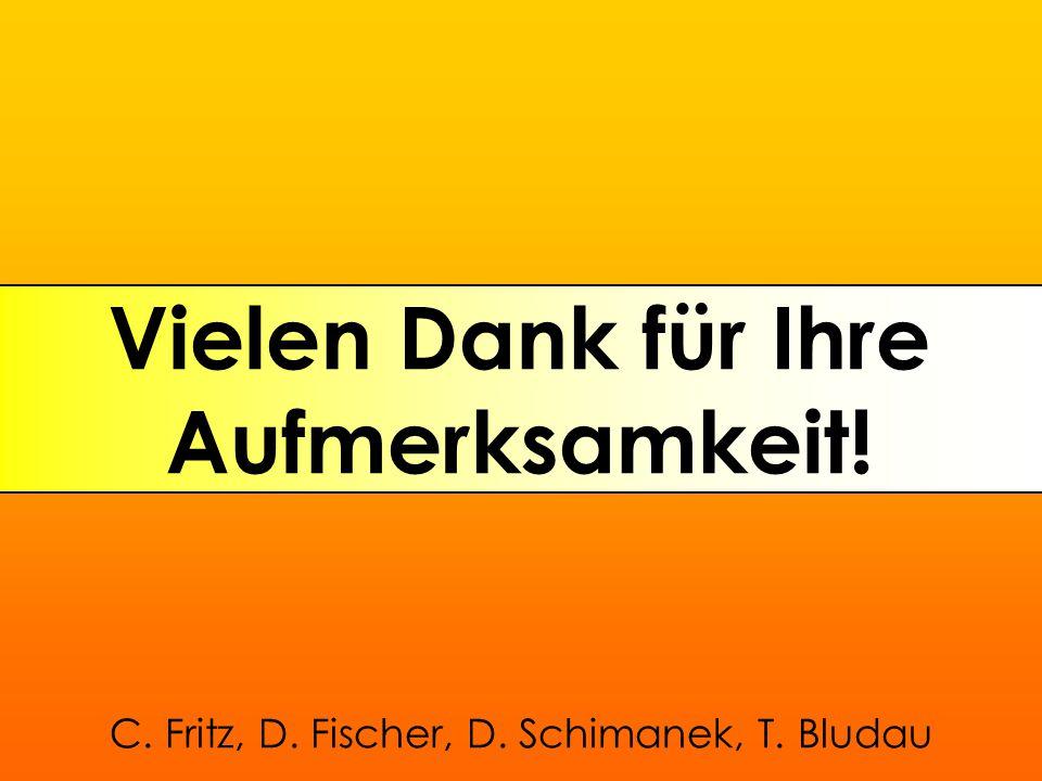 Vielen Dank für Ihre Aufmerksamkeit! C. Fritz, D. Fischer, D. Schimanek, T. Bludau