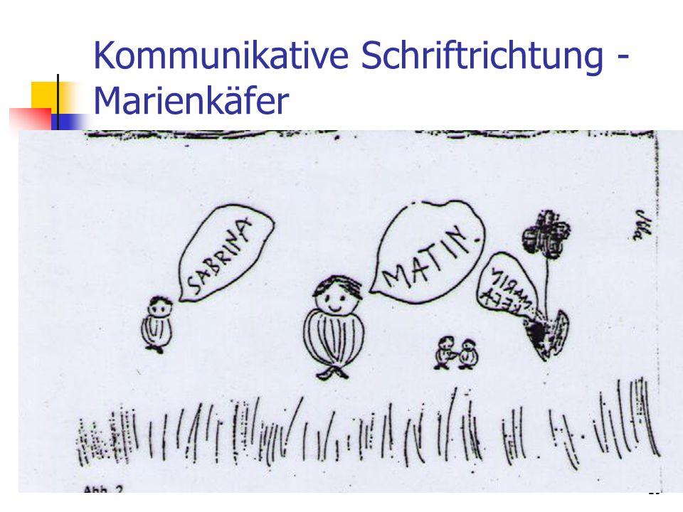 19 Kommunikative Schriftrichtung - Marienkäfer