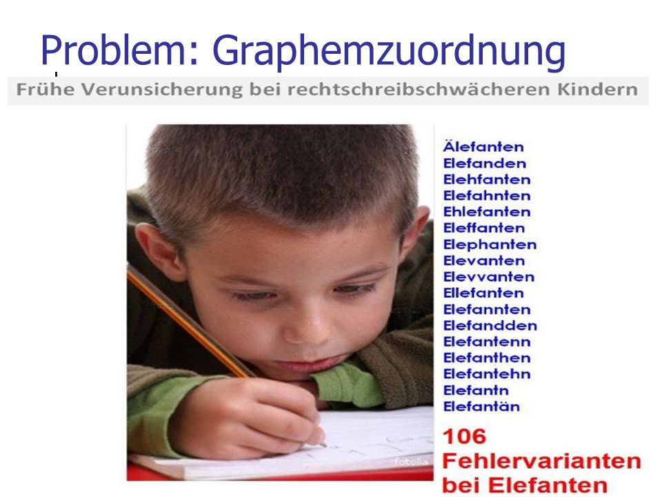31 Problem: Graphemzuordnung