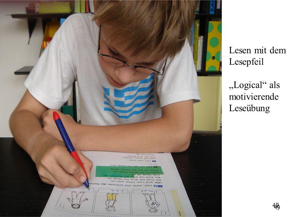 "49 Lesen mit dem Lesepfeil ""Logical"" als motivierende Leseübung"