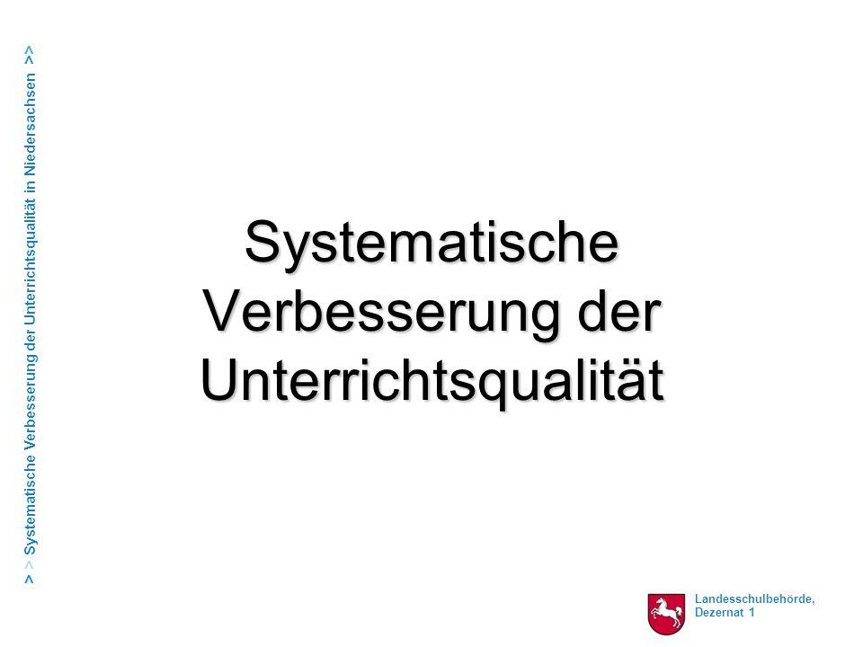 """Landesschulbehörde, Dezernat 1 > > Systematische Verbesserung der Unterrichtsqualität in Niedersachsen >> Informationsveranstaltung Comenius/Stapelfeld Der beste Lehrer: """"..."""
