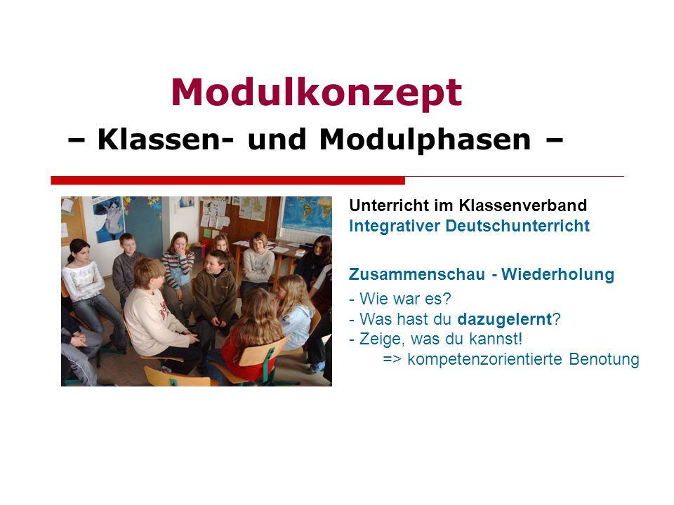 Unterricht im Klassenverband Integrativer Deutschunterricht Zusammenschau - Wiederholung - Wie war es? - Was hast du dazugelernt? - Zeige, was du kann