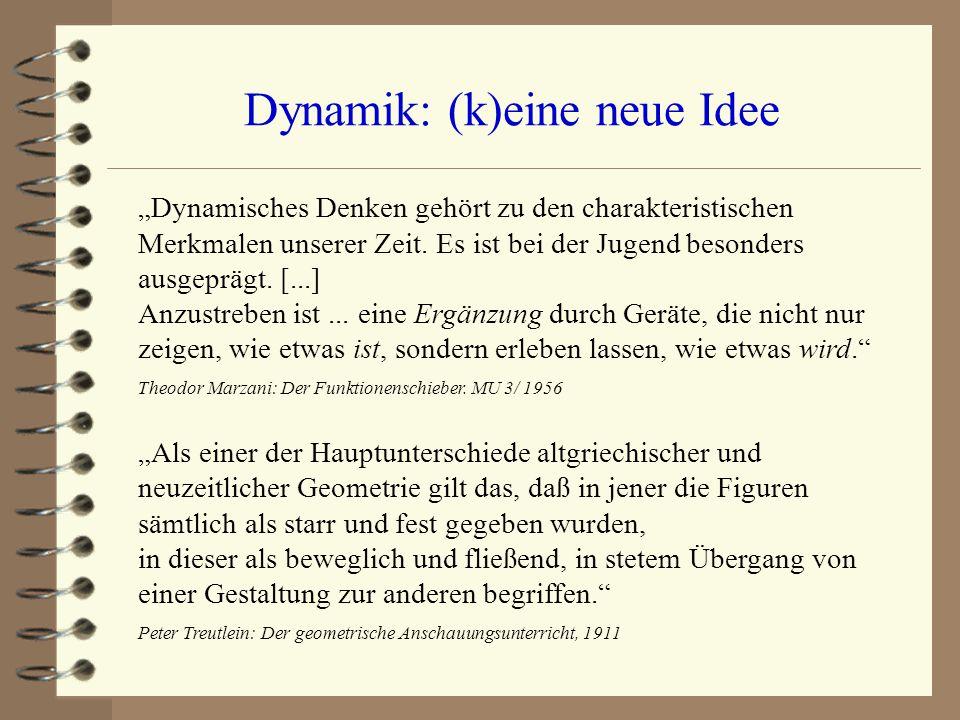 """Dynamik: (k)eine neue Idee """"Dynamisches Denken gehört zu den charakteristischen Merkmalen unserer Zeit. Es ist bei der Jugend besonders ausgeprägt. [."""