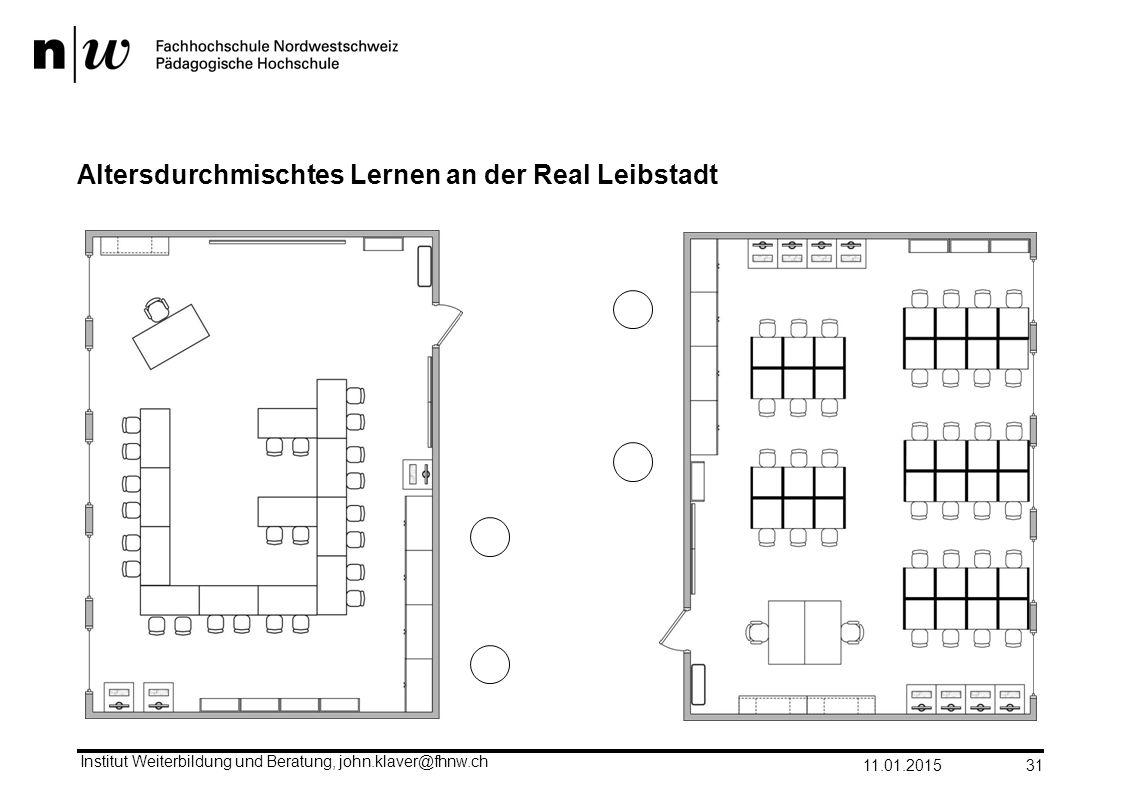 Altersdurchmischtes Lernen an der Real Leibstadt 11.01.2015 Institut Weiterbildung und Beratung, john.klaver@fhnw.ch 31