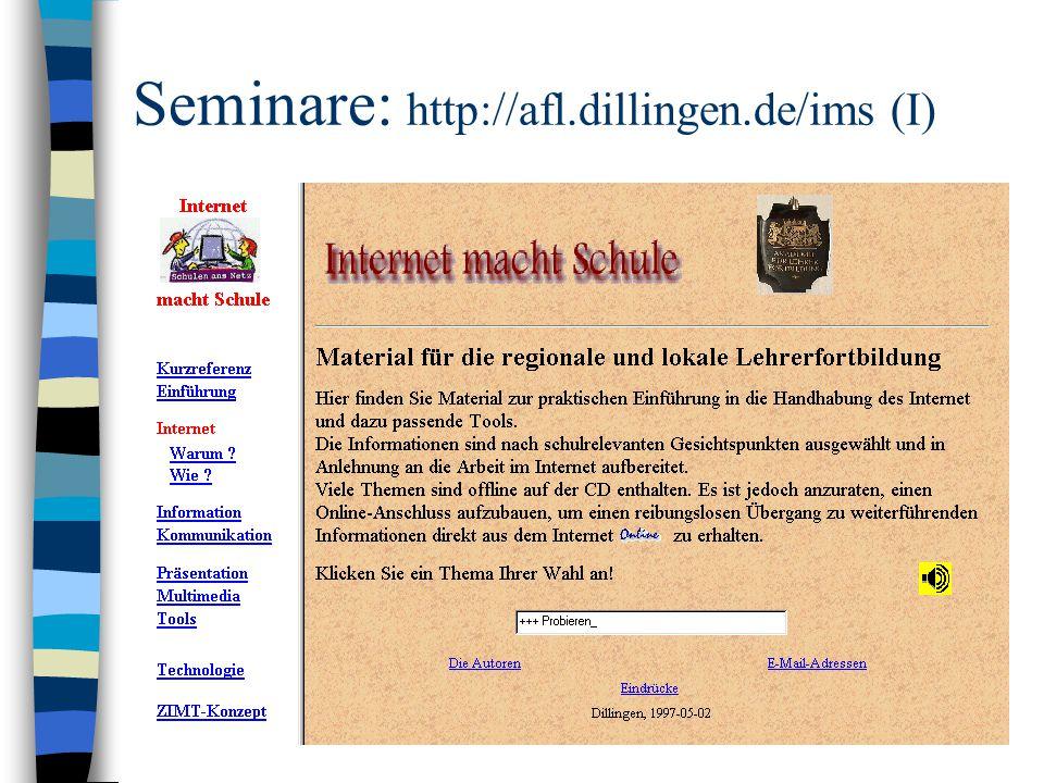 Seminare: http://afl.dillingen.de/ims (I)