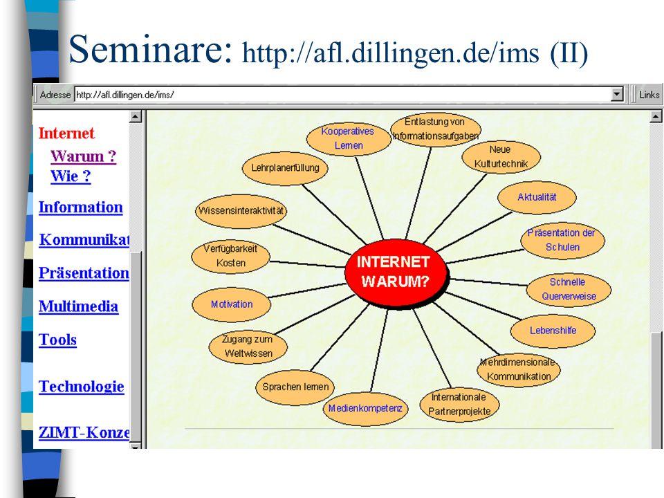 Seminare: http://afl.dillingen.de/ims (II)