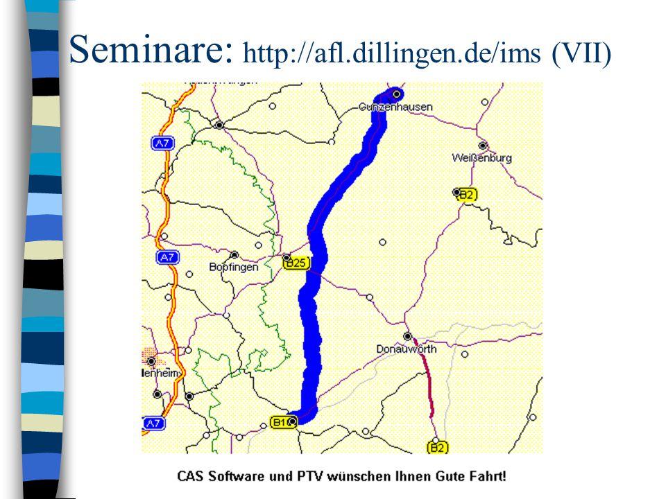 Seminare: http://afl.dillingen.de/ims (VII)