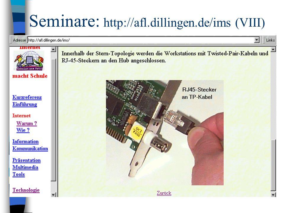 Seminare: http://afl.dillingen.de/ims (VIII)