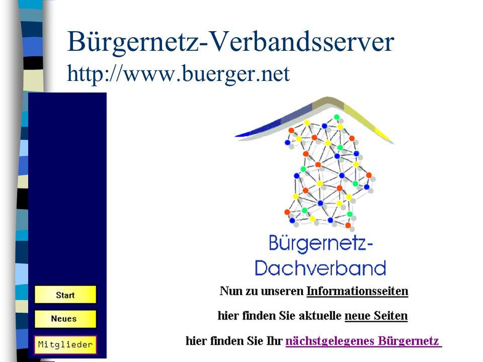 Bürgernetz-Verbandsserver http://www.buerger.net