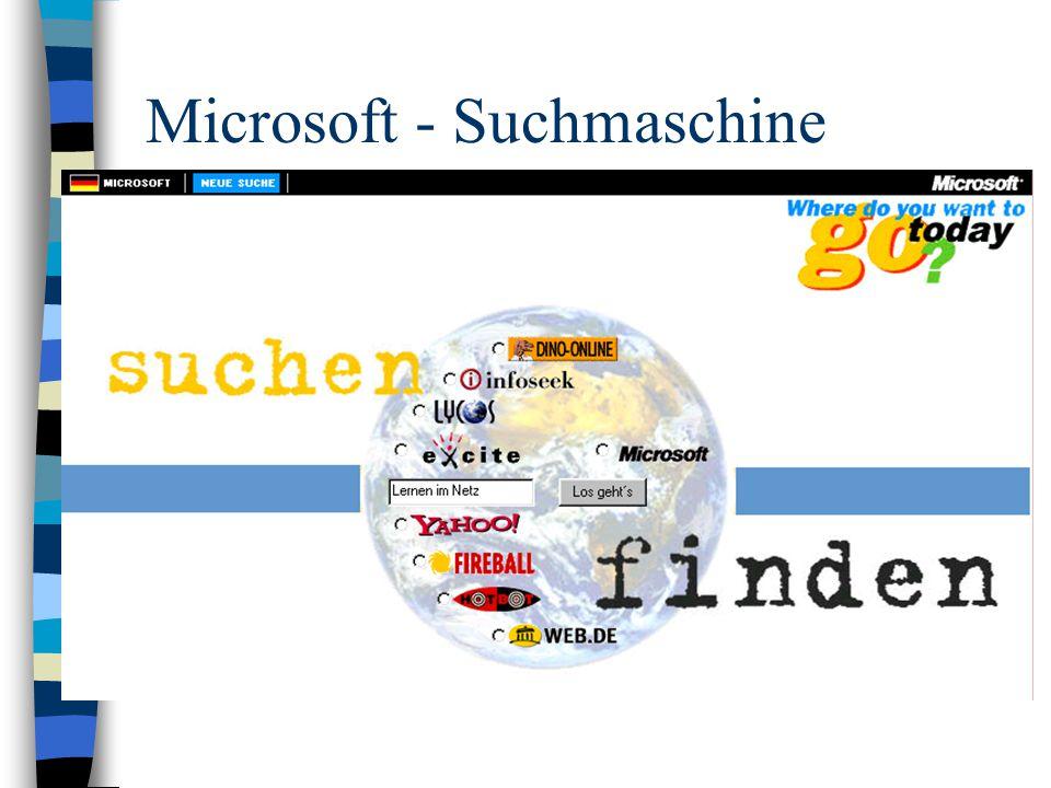 Microsoft - Suchmaschine