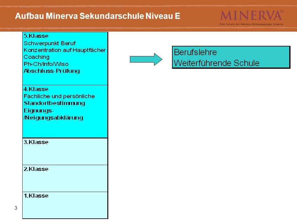 ((Titel))3 Aufbau Minerva Sekundarschule Niveau E