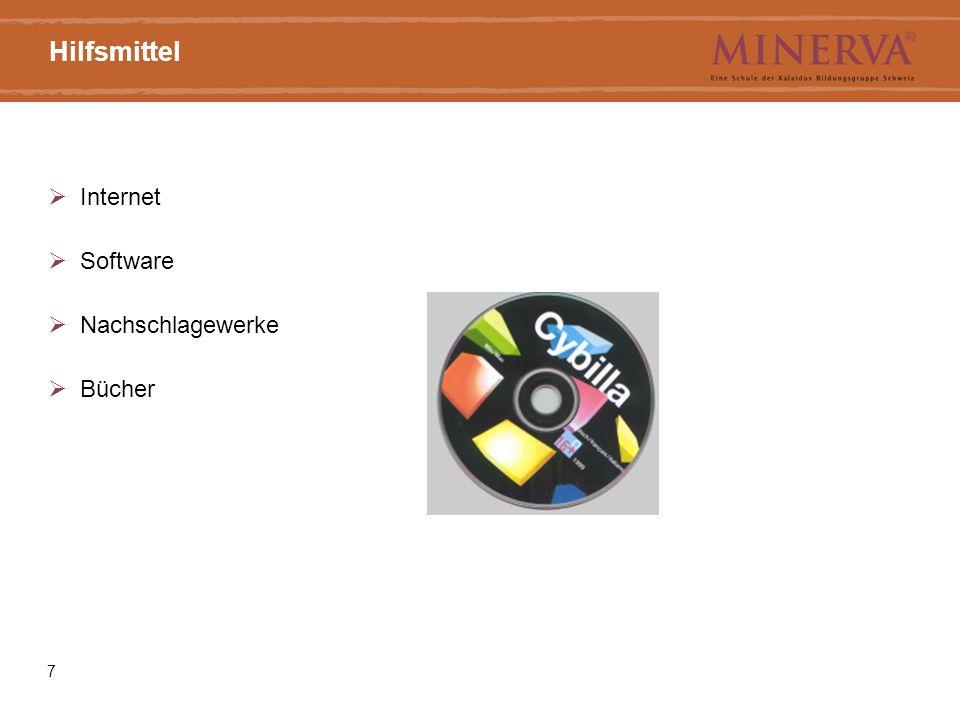 7 Hilfsmittel  Internet  Software  Nachschlagewerke  Bücher