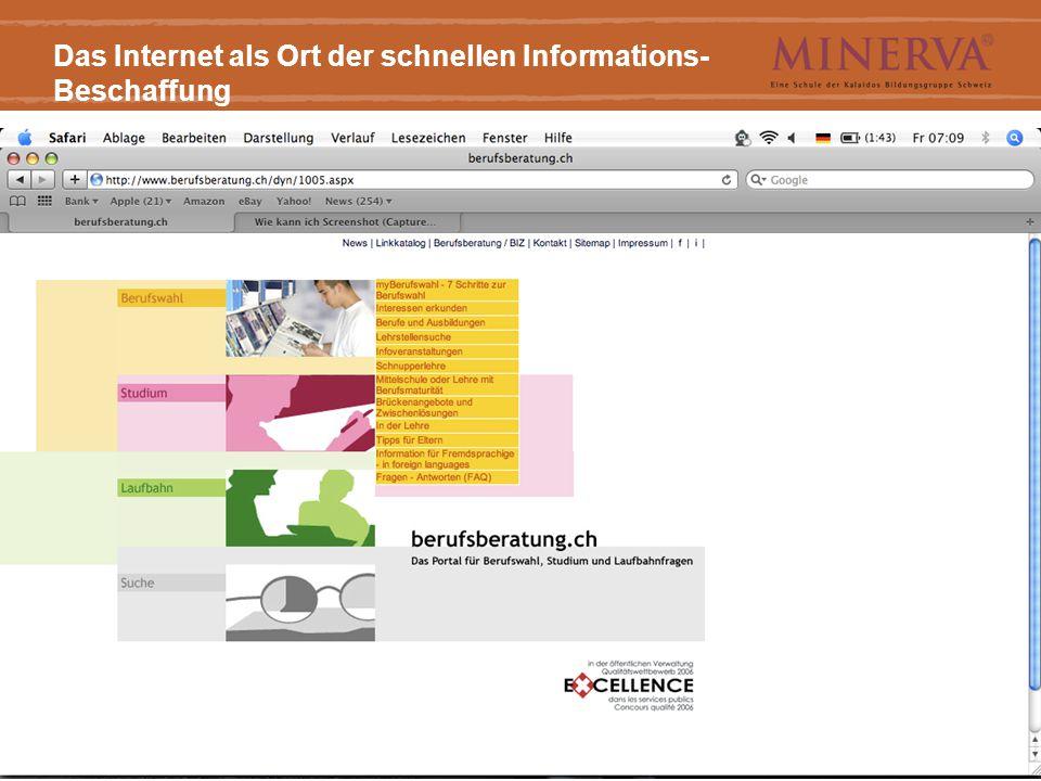 1/11/2015((Titel))9 Das Internet als Ort der schnellen Informations- Beschaffung