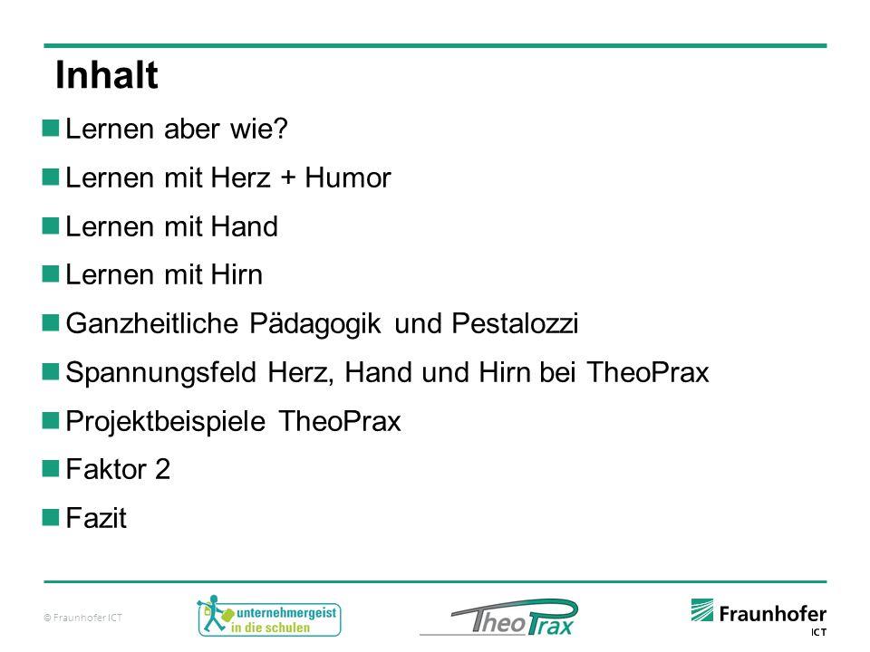 """© Fraunhofer ICT Spannungsfeld Herz + Humor, Hirn und Hand bei TheoPrax Beispiel 1: TheoPrax- Projektthema im Rahmen der Schülerakademie Karlsruhe """"Warum zerbrechen denn die Lampenkugeln immer."""