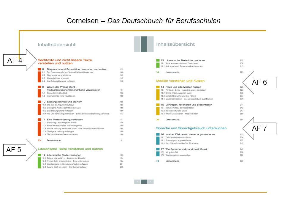 Cornelsen – Das Deutschbuch für Berufsschulen AF 4 AF 5 AF 6 AF 7