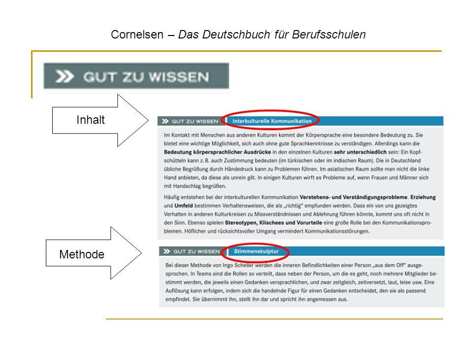 Cornelsen – Das Deutschbuch für Berufsschulen Methode Inhalt