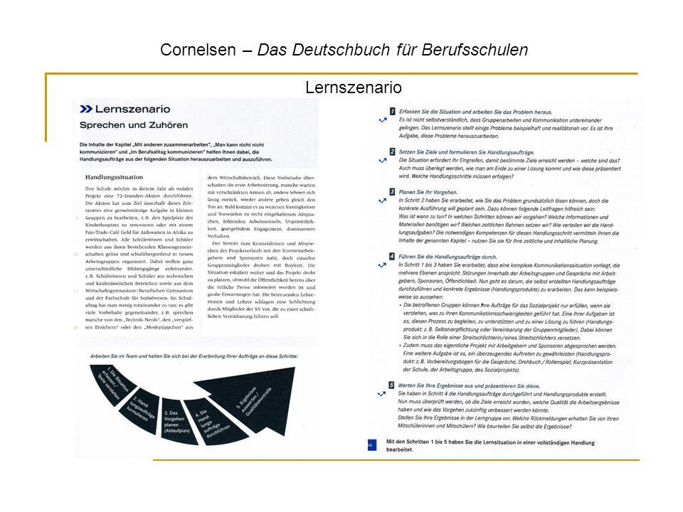 Cornelsen – Das Deutschbuch für Berufsschulen Lernszenario