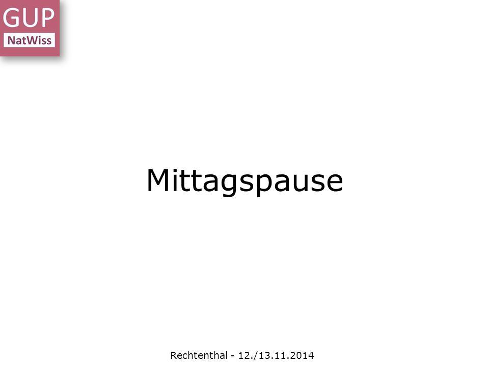 Rechtenthal - 12./13.11.2014 Mittagspause