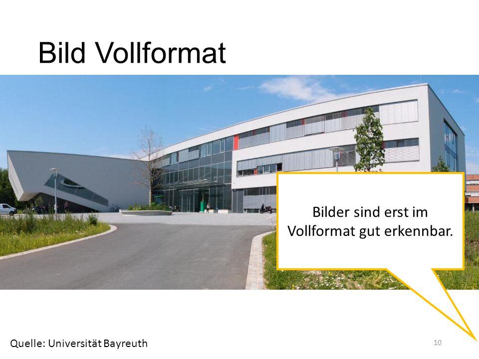 Bild Vollformat 10 Bilder sind erst im Vollformat gut erkennbar. Quelle: Universität Bayreuth