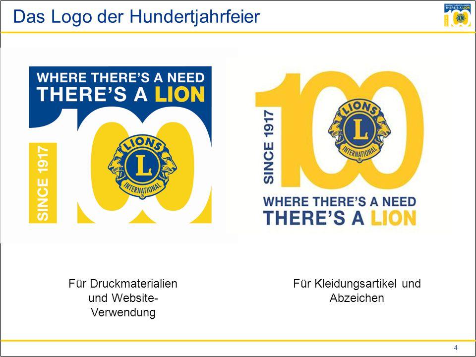 4 Das Logo der Hundertjahrfeier Für Druckmaterialien und Website- Verwendung Für Kleidungsartikel und Abzeichen