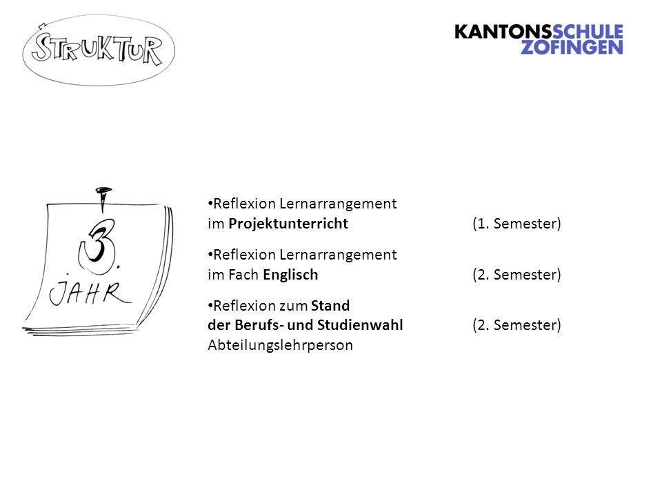 Reflexion Lernarrangement im Projektunterricht(1.