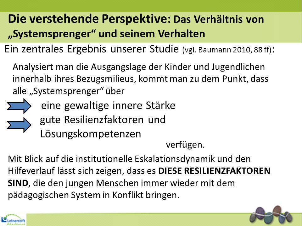 """Die verstehende Perspektive: Das Verhältnis von """"Systemsprenger"""" und seinem Verhalten Analysiert man die Ausgangslage der Kinder und Jugendlichen inne"""