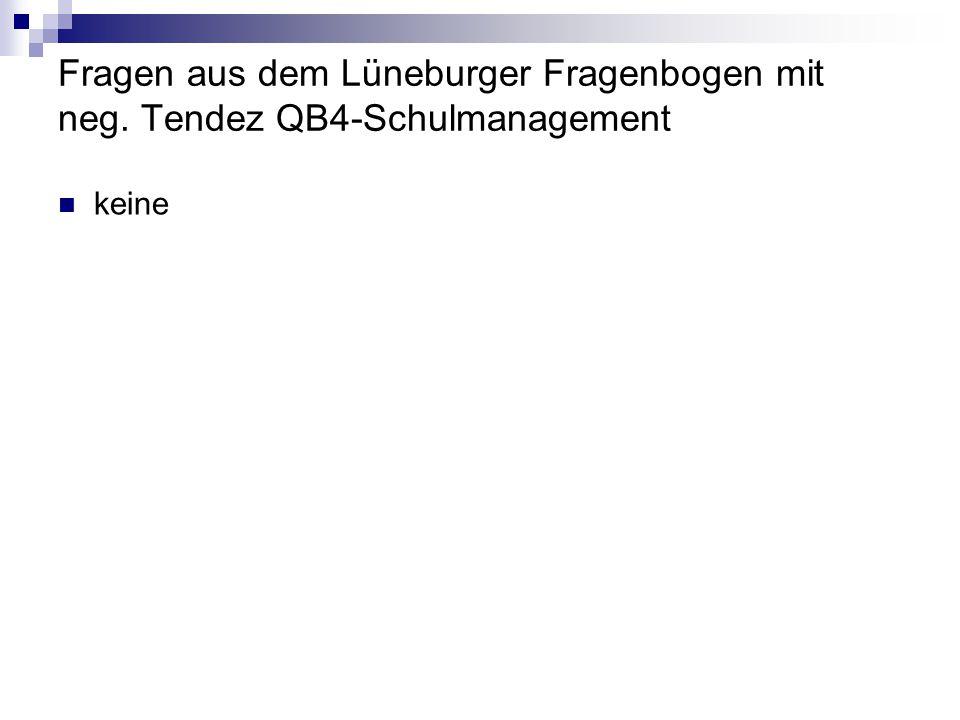 Fragen aus dem Lüneburger Fragenbogen mit neg. Tendez QB4-Schulmanagement keine