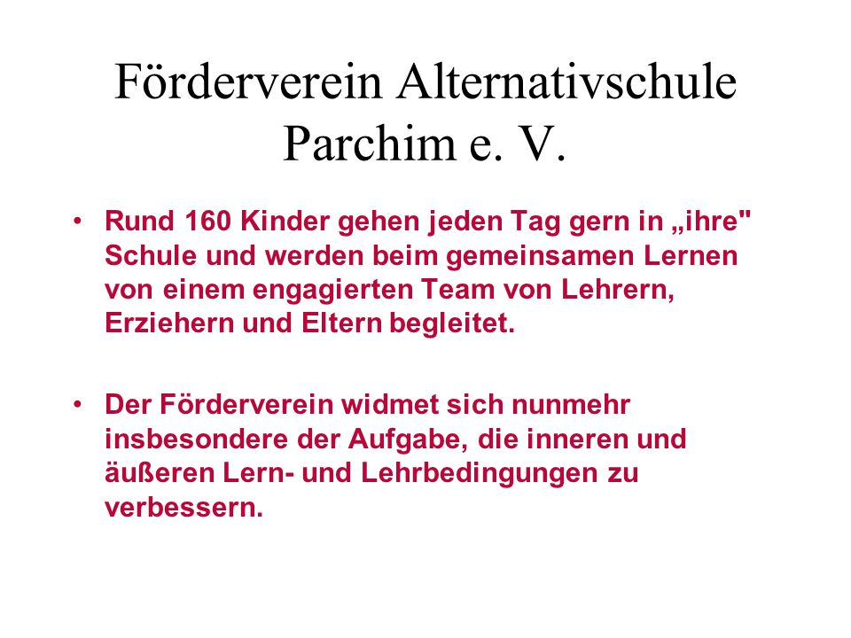 Förderverein Alternativschule Parchim e. V.